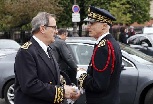 Jean-François Carenco, préfet d'Ile-de-France et président de l'ACP, en compagnie du préfet de Paris, en avril 2015.