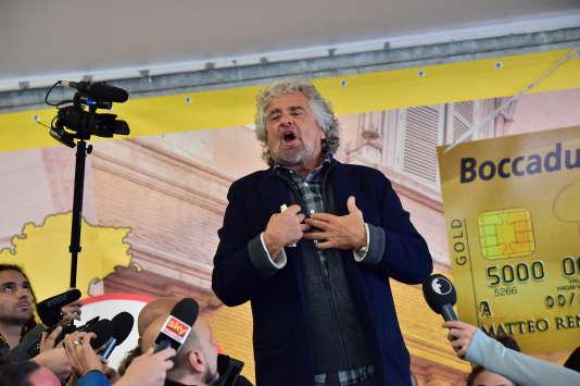 Le Mouvement 5 étoiles et son leader, Beppe Grillo, sont crédités de 30 % des intentions de vote.