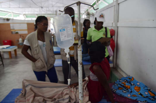 Un centre de traitement du choléra à Saint-Marc, en Haïti, le 26 août 2016.