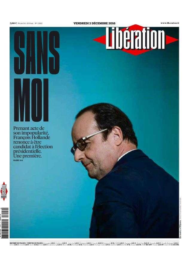 « Libération » : «Respectable. Rares sont les hommes politiques suffisamment lucides pour s'écarter volontairement du pouvoir au nom d'un intérêt plus grand, d'une solidarité nécessaire, dit Laurent Joffrin. On retiendra l'élégance du geste »