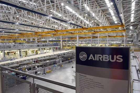 Le site de production d'Airbus de Broughton, au Pays de Galles, le 1erdécembre.