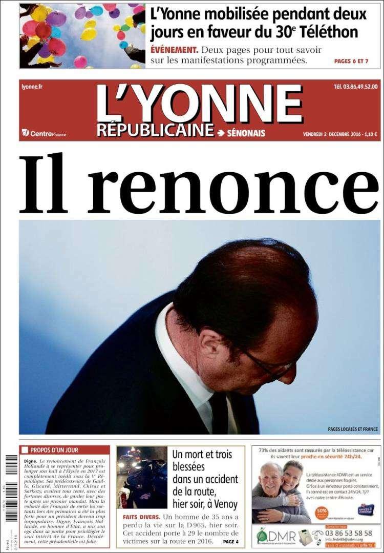 « L'Yonne républicaine ».