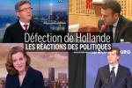 La classe politique réagit à l'annonce de la défection de François Hollande.