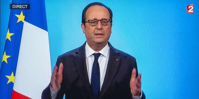 François Hollande, président de la République, annonce sur France 2 le 1er décembre qu'il renonce à être candidat à l'élection présidentielle de 2017.