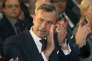 Norbert Hofer of Austria's Freedom Party, FPOE, applauds at the final election campaign event in Vienna, Austria, Friday, Dec. 2, 2016. Austria holds presidential elections on Sunday. (AP Photo/Ronald Zak)
