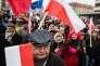 Manifestation à l'appel du Comité pour le défense de la démocratie (KOD) à Varsovie le 11 novembre.