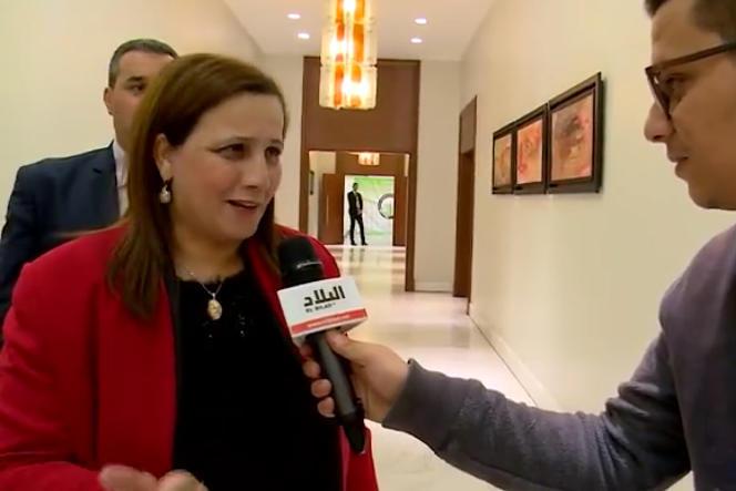 La ministre algérienne de la solidarité nationale, Mounia Meslem, lors de sa déclaration à la chaîne El Bilad le 30 novembre.