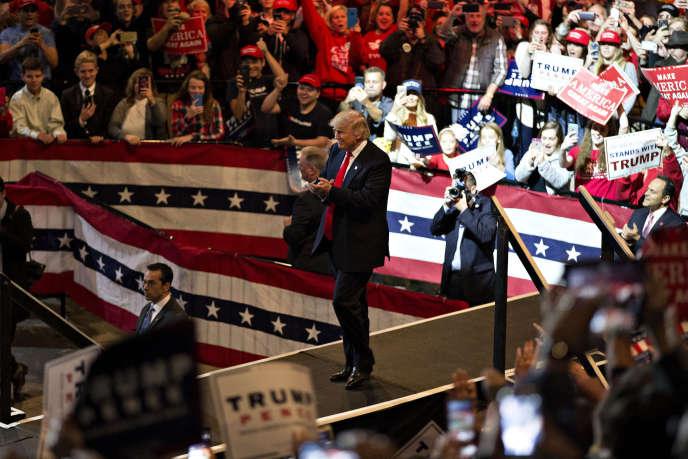Le président américain élu Donald Trump, jeudi 1er décembre à Cincinnati (Ohio).