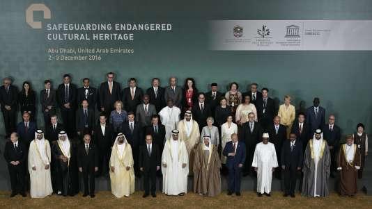 La cérémonie de clôture de la conférence d'Abou Dhabi sur la préservation du patrimoine en péril, le 3 décembre.
