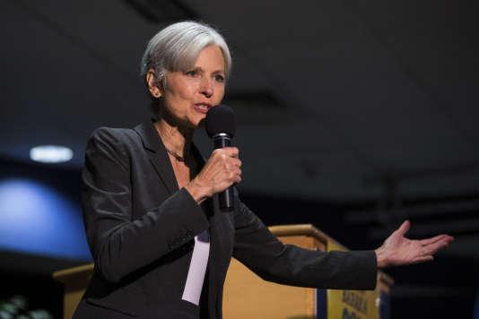 La présidente du Parti vert, Jill Stein, à l'université de Wilkes-Barre (Pennsylvanie) le 3 décembre.