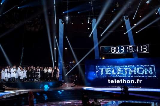 Lors de la 30e édition du Téléthon, le 4 décembre.