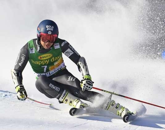 Mathieu Faivre lors du slalom géant de Val d'Isère, le 4 décembre.