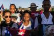 Des Cubains se recueillent pour les funérailles de Fidel Castro, le 4 décembre, à Santiago de Cuba.