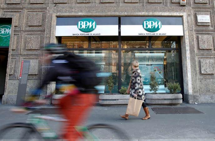 Le système bancaire italien concentre les inquiétudes. Ici, à Milan.