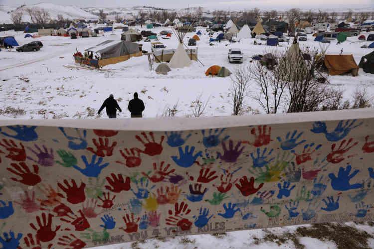 Le campement d'Oceti Sakowin, le 2 décembre.