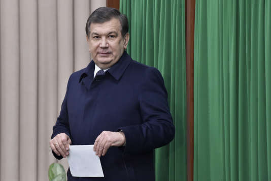Le président ouzbek, Chavkat Mirzioïev, à Tachkent, le4décembre.