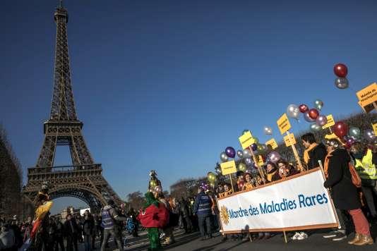 La Marche des maladies rares, le 3décembre à Paris, dans le cadre du Téléthon.
