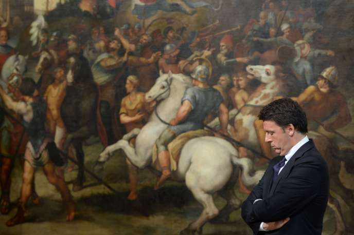 Le président du conseil italien, Matteo Renzi, le 23 juin, dans le palais Chigi, à Rome.