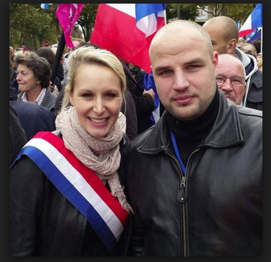 Logan Djian et Marion Maréchal-Le Pen.