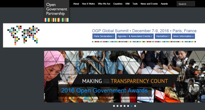 «Ce sommet est celui de cette communauté engagée, rassemblant ceux qui inventent de nouvelles manières de gouverner, de décider, d'exercer leur citoyenneté ou de participer à la vie publique» (Photo: capture d'écran du site de l'OGP).