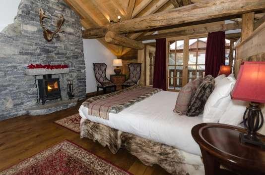 La suite Président du Black Diamond Lodge, à Sainte-Foy, en Savoie.