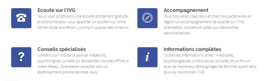 Le site ivg.net a l'apparence d'un site neutre, apportant des« informations complètes».