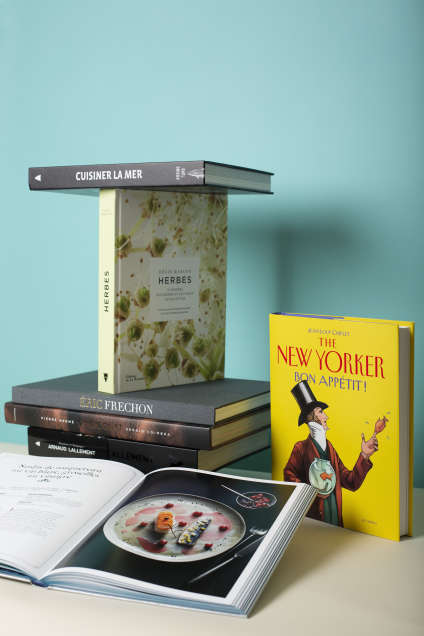 Une sélection de livres de cuisine.