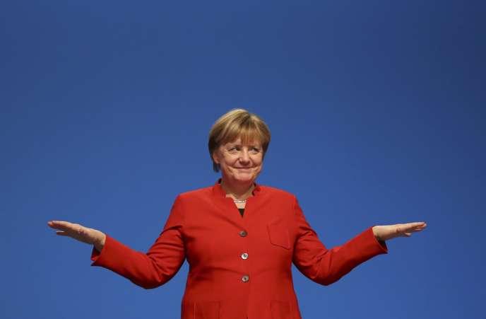 Angela Merkel à Essen en Allemagne le 6 décembre.