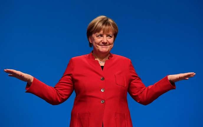 La CDU a réélu Angela Merkel à sa tête pour conduire la campagne électorale de 2017, le 6 décembre 2016.