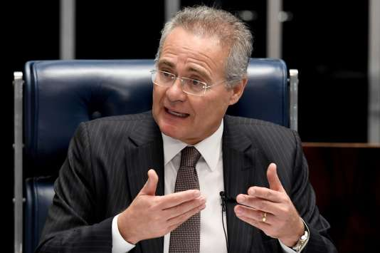 Le président du Sénat, Renan Calheiros, le 1er décembre 2016 à Brasilia.