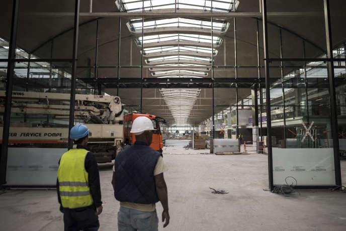 L'incubateur de La Halle Freyssinet rebaptisé Station F, situé dans le 13e arrondissement de Paris, le 18 octobre.