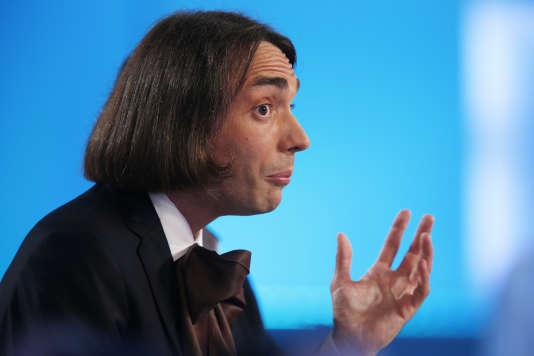 Le mathématicien Cédric Villani, sur le plateau du«Grand Journal» enseptembre2012.