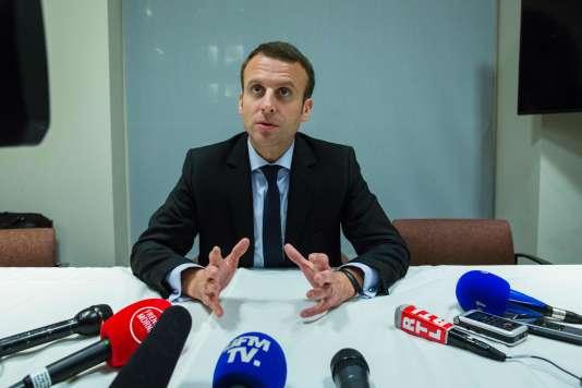 Emmanuel Macron le 5décembre à New York.
