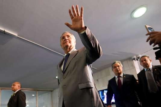 Le président du Sénat, Renan Calheiros, le 6 décembre, à Brasilia.