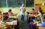 Une école primaire, à Józefów, en Pologne, en juin 2013.