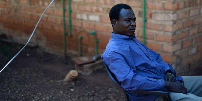 Dominic Ongwen à Obo, le 16 janvier 2014, avant d'être remis à la CPI par l'armée ougandaise.