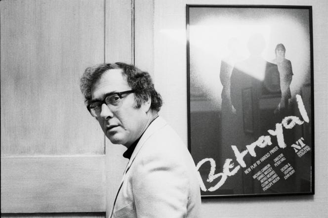 Harold Pinter (1930-2008), acteur et auteur dramatique anglais, en 1978.