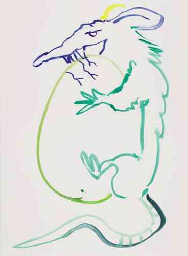 « Le Rat Lucky colors : bleu, or, vert »À moi le fruit de tous champs qui joue l'orchestre une bague à blason à chaque doigt de la main qui empoigne à moi l'orgasme la faille qui dévore la montagne qui hérite la brume et ses armes.