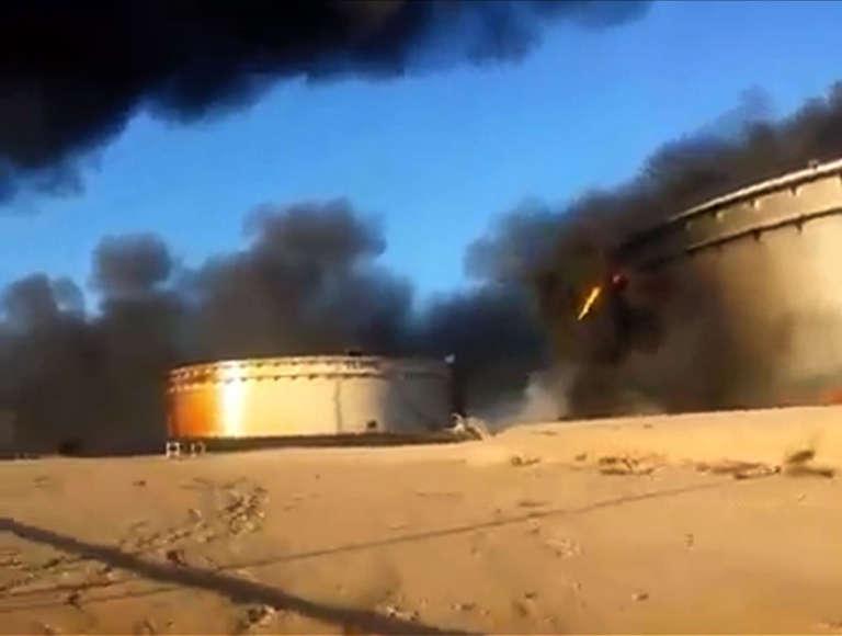 Une des installations du Croissant pétrolier, près de Sidra (Libye), en janvier.