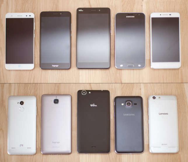 Les matières sont différentes d'un smartphone à l'autre.