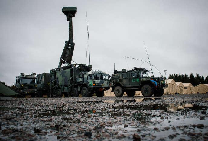 Des soldats suédois, lors d'un exercice près de Malmö, en Scanie, en 2014.