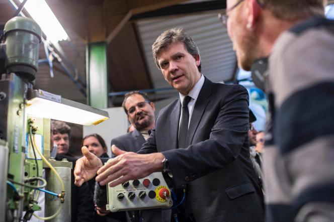 Arnaud Montebourg, candidat PS à la primaire à gauche, à Longvic (Côte-d'Or), le 7 décembre 2016.