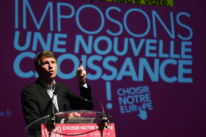 Vincent Peillon, à Marseille, pendant la campagne des élections européennes de mai 2014.