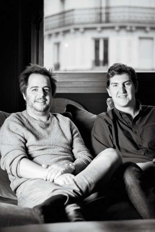 Steve et Jonathan Dolfi de la chocolaterie A la Mère de Famille, à Paris.