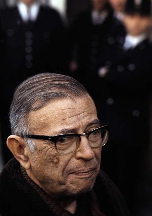 Jean-Paul Sartre, en 1968.