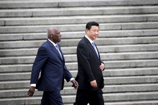 Angola's President Jose Eduardo Dos Santos, here with China's President Xi Jinping in Beijing in June 2015,was placed under surveillance by the British intelligence service.