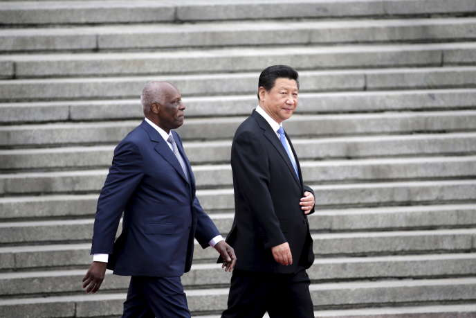 Angola's President Jose Eduardo Dos Santos, here with China's President Xi Jinping in Beijing in June 2015, was placed under surveillance by the British intelligence service.