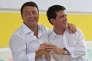 Les premiers ministres italien et français, Matteo Renzi et Manuel Valls, à Bologne (Italie), le 7 septembre 2014.