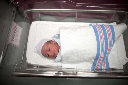 Nouveau né à la maternité de Brooklyn (New York) en 2011.