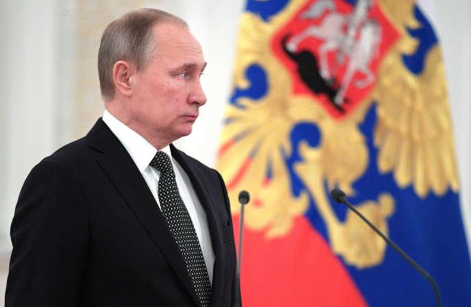 Le président Vladimir Poutine au Kremlin, à Moscou , le 7 décembre 2016.